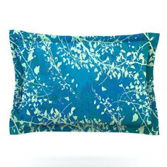 KESS InHouse Twigs Silhouette by Iris Lehnhardt Featherweight Pillow Sham Size: Queen, Color: Neutral
