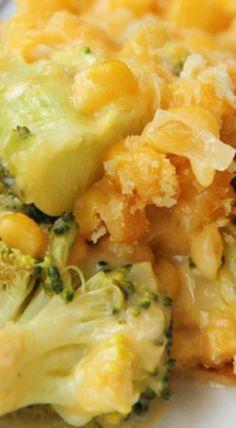 Cheesy Broccoli & Corn Casserole