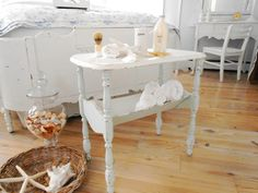 table shabby chic furniture book table cottage by backporchco, $89.00