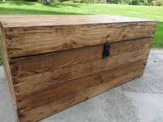 Awesome Large Rustic Storage Trunk /chest /coffee Table, Handmade From Reclaimed  Wood