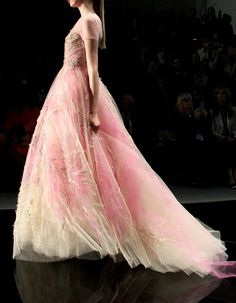 Reem Acra NYFW Spring 2013-  If I were to wear pink I would choose this first lol.
