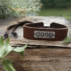 Four Lucky Shoes Horse Bracelet ~ Quadruple your luck! So sweet and simple, the darling cast pewter plate fastened to the leather bracelet can adjust to fit any horse lover's wrist with the adjustable leather tie. An original gift idea, handcrafted in the USA, especially for Wild Horsefeathers.