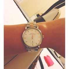 Rose gold and silver Marc Jacobs watch <3