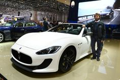A GranCabrio MC with the new Bianco Birdcage three-layer paint finish.    A unique car that maintains the elegant, luxury style of Maserati's first genuine four-seater cabriolet, the GranCabrio, with the added benefit of the technological expertise gained on the racetrack by Maserati Corse.