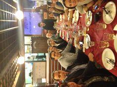 Ecco la cena con i colleghi della Maria....