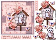 New Home Cute Owlhouse on Craftsuprint designed by Marijke Kok - very cute design for a new home card- other occasion... - Now available for download!