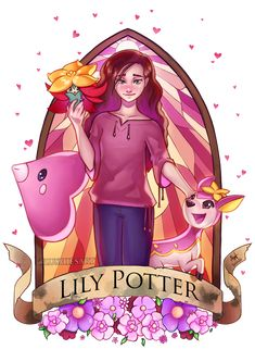 Pottermon: Lily Potter by Lushies-Art on DeviantArt Harry Potter Tumblr, Harry Potter Fan Art, Harry Potter Cartoon, Cute Harry Potter, Harry Potter Drawings, Harry Potter Pictures, Harry Potter Universal, Harry Potter Fandom, Harry Potter Characters