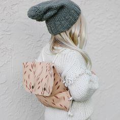 Falling Leaves Backpack by Mini Mocks Baby Backpack, Falling Leaves, Autumn Leaves, Little Ones, Craft Projects, Winter Hats, Crochet Hats, Handmade Items, Backpacks