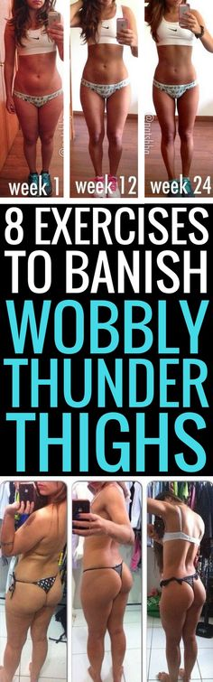 8 best exercises to tone your jiggly thighs. 8 best exercises to tone your jiggly thighs. Sport Fitness, Fitness Diet, Yoga Fitness, Fitness Motivation, Health Fitness, Fitness Wear, Motivation Quotes, Thunder Thighs, Thigh Exercises