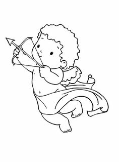 Cute Little Boy Cupid Coloring Pages