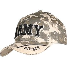 9397eb1872c Army Digital Camo Two-Tone Cap- Military Hat