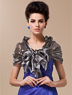 Rayon With Flowers and Pearls Special Occasion / Wedding Sha... – USD $ 39.99