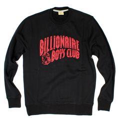 BILLIONAIRE BOYS CLUB classic crewneck in Black B0012K400, Free Shipping at CelebrityModa.com