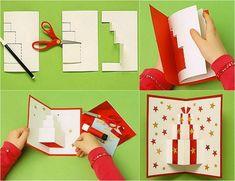 Pop Up Karte mit Geschenkmotiv selber basteln