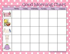 "A Daily Dose of Davis: A ""Good Morning Chart"" For Toddlers & Preschoolers"