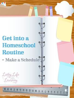 You don't need to plan out every minute, but your child will work better knowing what lies ahead. Make things easier for yourself and your kids - get into a homeschool routine and make a schedule