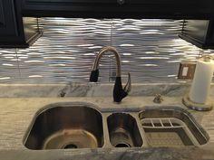 Backsplash & triple sink