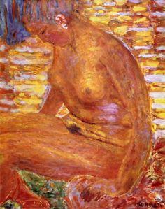 Pierre Bonnard — Sombre Nude via Pierre Bonnard Size: 65x81 cm...