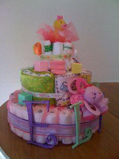 Girly Pink - Diaper Cake