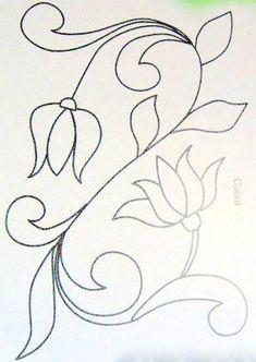 ARTEMELZA - Arte e Artesanato: Riscos para pintura bauernmalerei Hand Embroidery Design Patterns, Applique Patterns, Applique Designs, Beading Patterns, Quilting Templates, Quilting Designs, Jacobean Embroidery, Embroidery Needles, Embroidery Kits