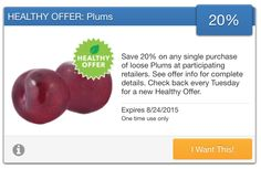 SavingStar Fresh Produce Coupon – Save 20% on Plums