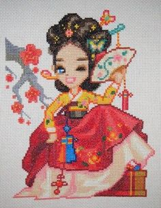 Kaede, belle de caract�re 'Visit Site' for PDF pattern of Korean Kisaeng!