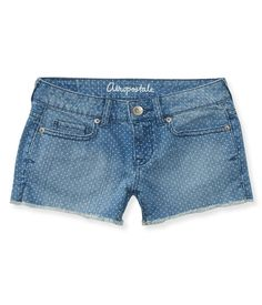 Faded Dot Denim Shorts from Aéropostale