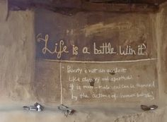 Life is a battle - win it #quote Nice Inspirational Quotes, Chalkboard Quotes, Art Quotes, Battle, Life, Painting, Painting Art, Paintings, Painted Canvas