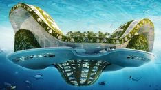 Belgian architect Vincent Callebaut is adding another line to the long list of wacky plans for urban settings. His idea? Well, sustainable floating cities inspired by lily pads. Floating Architecture, Futuristic Architecture, Sustainable Architecture, Architecture Design, Futuristic Art, Green Architecture, Vincent Callebaut, Arcology, Nova Orleans