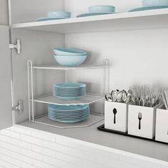 "Latitude Run Nordland 85.9"" H x 41.8"" W Over Bed Shelving Unit   Wayfair White Kitchen Cabinets, Ikea Kitchen, Kitchen Decor, Kitchen Ideas, Kitchen Inspiration, Kitchen Pantry, Kitchen Hacks, Kitchen Corner, Corner Pantry"