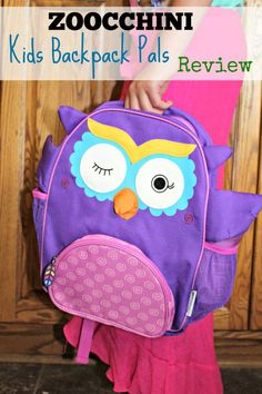 Zoocchini Kids Backpack Pals ~ Olive The Owl Children's Backpack Schoolbag in whimsical fun characters