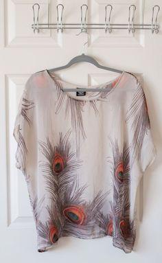 Bobeau XL Peacock Top Women's Shirt   | eBay