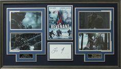 Tom Hardy & Leonardo DiCaprio The Revenant Signed Five Photo Collage Display.