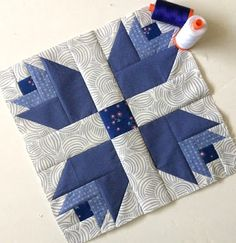The February Aurifil Designer Block of the Month was released a few days ago and I had so much fun sewing it up this morning!!! February i...