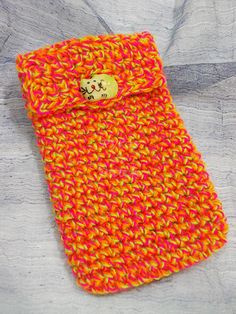 Cover Iphone crocheted yarn melange with cat-shaped di PyrosePatch