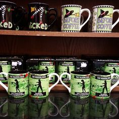 Wicked cool mugs just in... #gloriajeans #gloriajeanscoffee #coffeemugs #coffee #wicked #witch #zombie #halloween #fall #october #trickortreat
