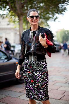 Street Style Spring 2013 - Milan Fashion Week Street Style - Harper's BAZAAR