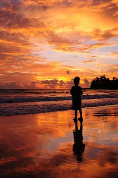 Sunset in Surin Beach, Phuket, Thailand - adventure is out there for the old and young.