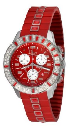 Best Buy Christian Dior Womens CD11431BR001 Christal Chronograph Diamond Red Dial Watch at http://get.nazuka.net/review/product.php?asin=B0018Z5V9Q