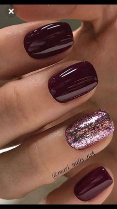 Would you like to warn of the modern nail color for this winter? - Nailart nails - Nagel - Would you like to warn of the modern nail color for this winter? Then the nail art nails - Top Coat Nail Polish, Nail Polish Colors, Nails Polish, Gelish Nails, Toe Nail Colours, Short Nails Shellac, Best Toe Nail Color, Dark Color Nails, Sns Nails Colors