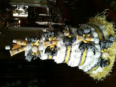 Burt's Bees Diaper Cake for Bumble Bee Theme Baby Shower