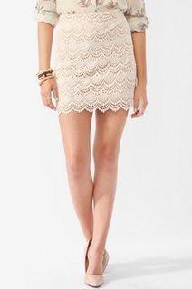 This cute white skirt is a summer essential!