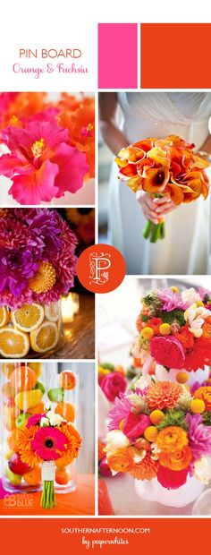 Bright Orange and Fushia Decor