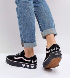 best website bb0bb 527c0 Vans X Lazy Oaf Old Skool Sneakers Platform Vans, Tennis Vans, Shop Vans,