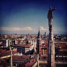 Milano view from Duomo. #Milano #mytravelblog photo by Stella Marega