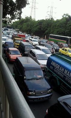 Monster traffic jam in Jakarta #macet