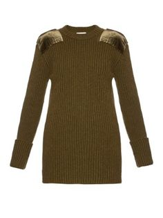 Military contrast-patch ribbed-knit sweater | Hillier Bartley | MATCHESFASHION.COM UK
