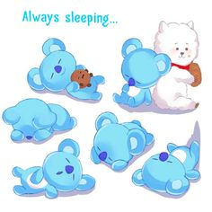 Always in dreamland far far away from this worldSweet dreams my little Koya - This is not my photoCredits to the maker of the picture of Koya RJ and Shooky -