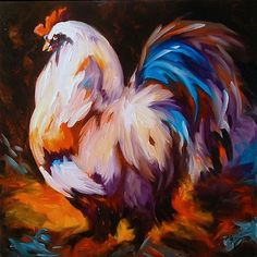 Rooster Paintings Large | Art: ROOSTER WEST by Artist Marcia Baldwin
