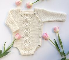 Crochet Patterns Onesie Ravelry: Snowdrop Wrap Onesie pattern by Anne Dresow